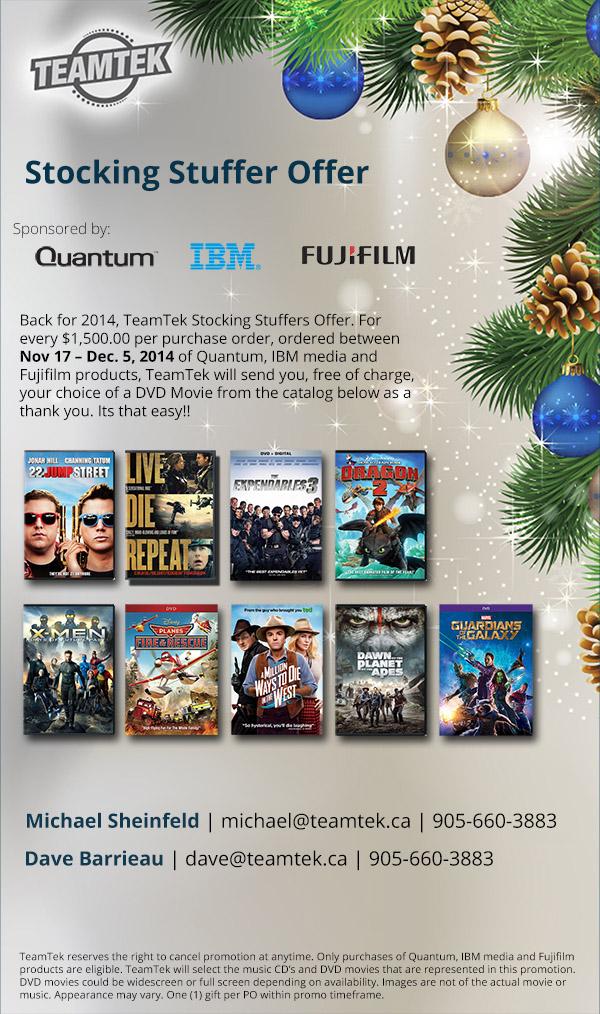 Stocking Stuffer DVD Promotion
